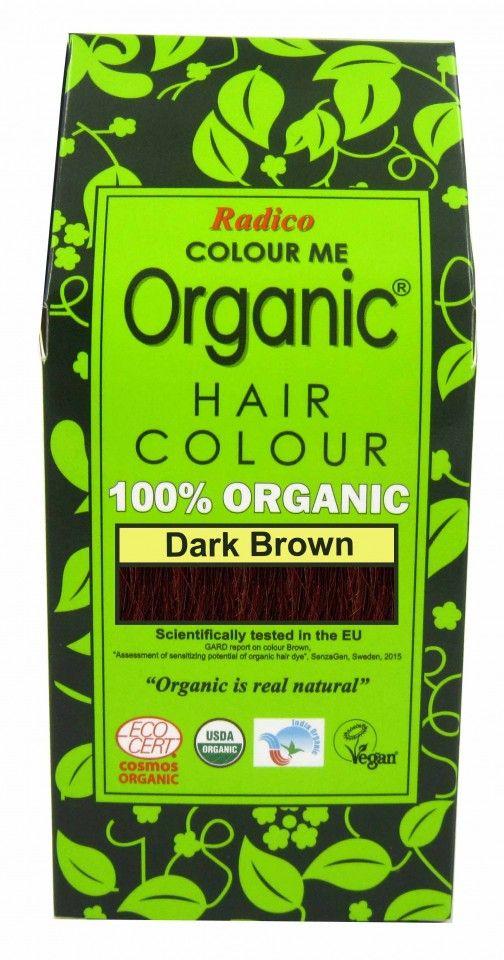 Билкова боя за коса - тъмнокафяво - Radico