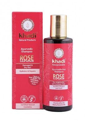 Био шампоан Khadi с роза - 210 мл
