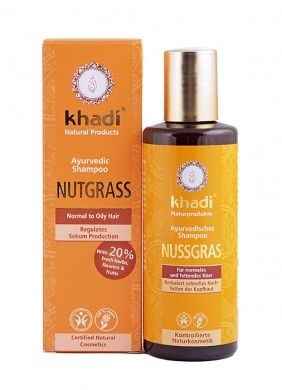 Khadi Organic Nagarmotha Shampoo – Oily to Normal Hair – 210 ml